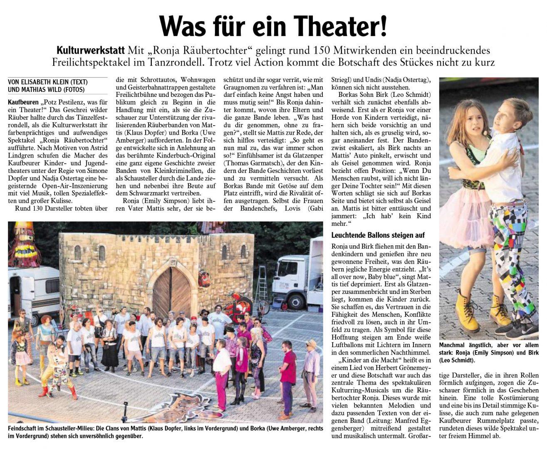 Kulturwerkstatt, Ronja Räubertochter